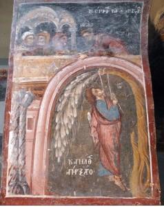 A freskófestő szerint, Júdás inkább valamilyen pálmafélét választott